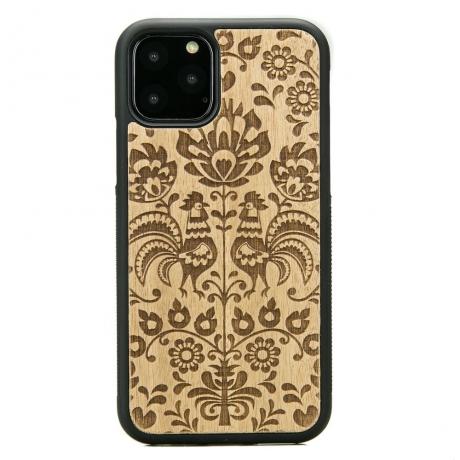 Drewniane Etui iPhone 11 PRO POLSKI FOLK ANIEGRE