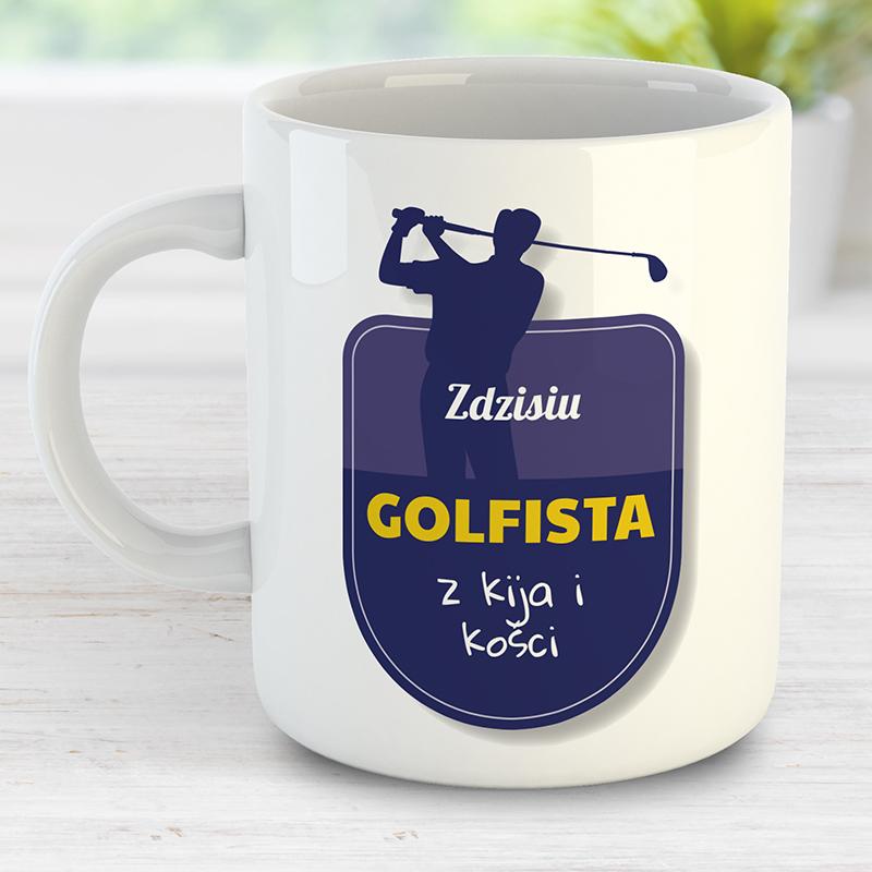 Kubek dla golfisty z nadrukiem spersonalizowanym
