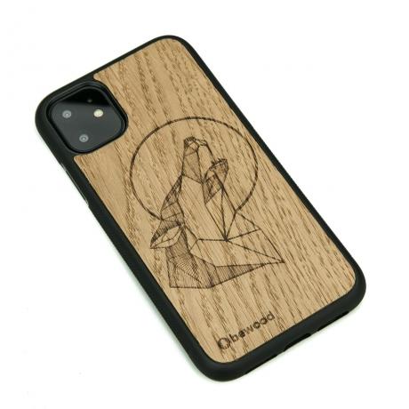 Drewniane Etui iPhone 11 WILK DĄB