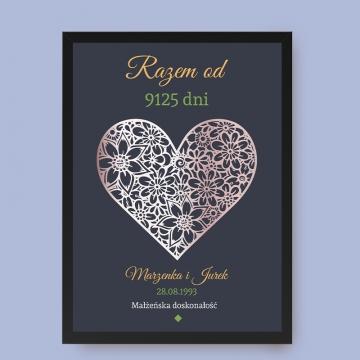 Plakat dla małżeństwa w ramce
