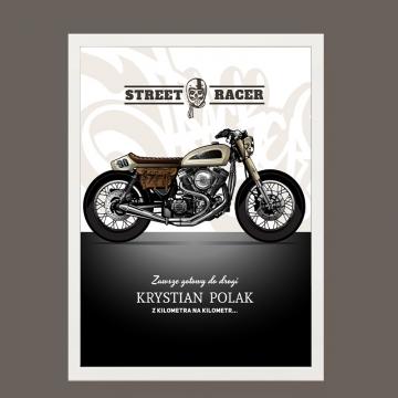 Plakat motocyklowy