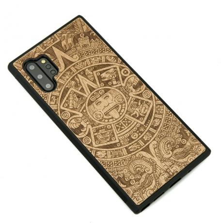 Drewniane Etui Samsung Galaxy NOTE 10+ KALENDARZ AZTECKI ANIEGRE