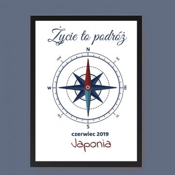 Plakat dla fana podróży z własnym napisem