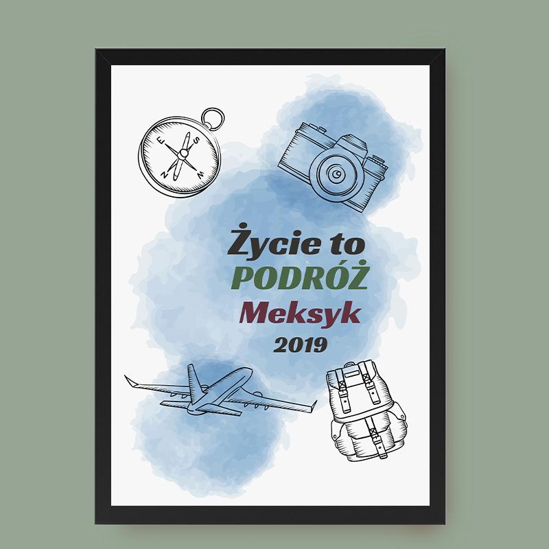 Plakat dla podróżnika (personalizowany)