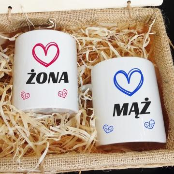 Zestaw kubków dla małżeństwa (personalizowany)
