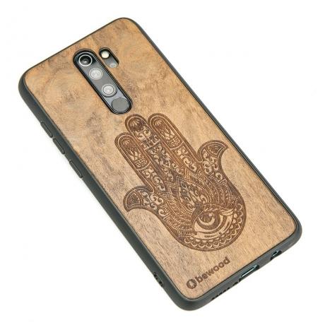 Drewniane Etui Xiaomi Redmi Note 8 Pro HAMSA IMBUIA