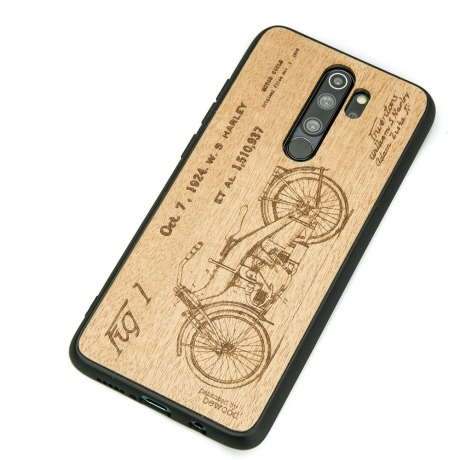 Drewniane Etui Xiaomi Redmi Note 8 Pro HARLEY PATENT ANIEGRE