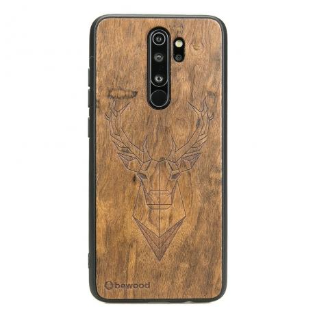 Drewniane Etui Xiaomi Redmi Note 8 Pro JELEŃ IMBUIA