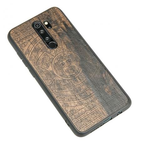 Drewniane Etui Xiaomi Redmi Note 8 Pro KALENDARZ AZTECKI ZIRICOTTE