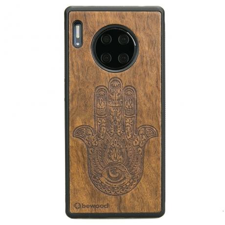 Drewniane Etui Huawei Mate 30 Pro HAMSA IMBUIA