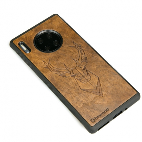 Drewniane Etui Huawei Mate 30 Pro JELEŃ IMBUIA