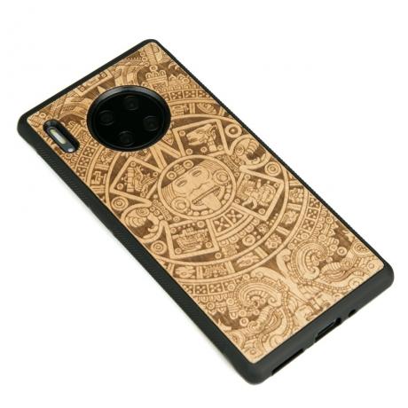 Drewniane Etui Huawei Mate 30 Pro KALENDARZ AZTECKI ANIEGRE