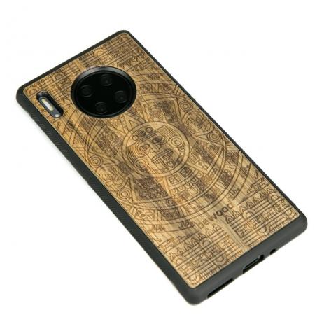 Drewniane Etui Huawei Mate 30 Pro KALENDARZ AZTECKI LIMBA