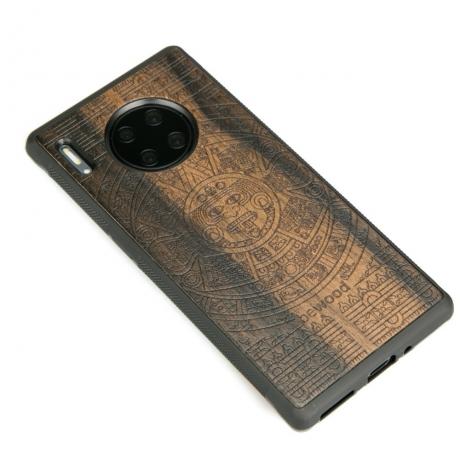 Drewniane Etui Huawei Mate 30 Pro KALENDARZ AZTECKI ZIRICOTTE