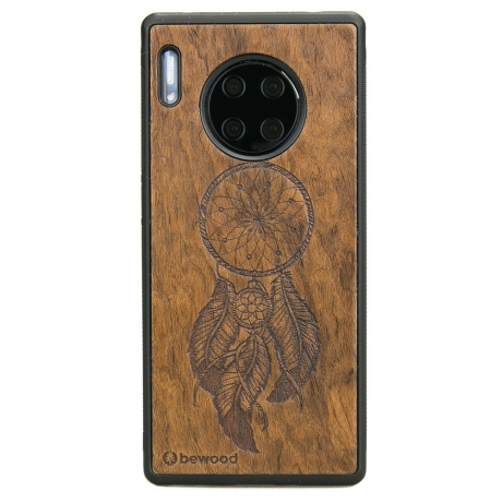 Drewniane Etui Huawei Mate 30 Pro ŁAPACZ SNÓW IMBUIA