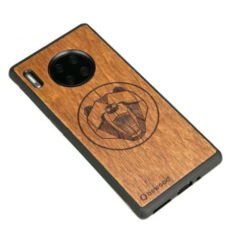 Drewniane Etui Huawei Mate 30 Pro NIEDŹWIEDŹ MERBAU