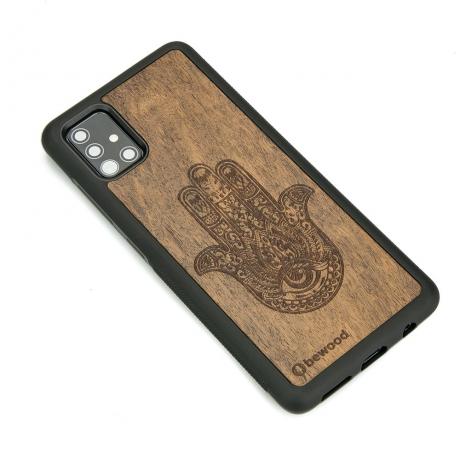 Drewniane Etui Samsung Galaxy A51 HAMSA IMBUIA