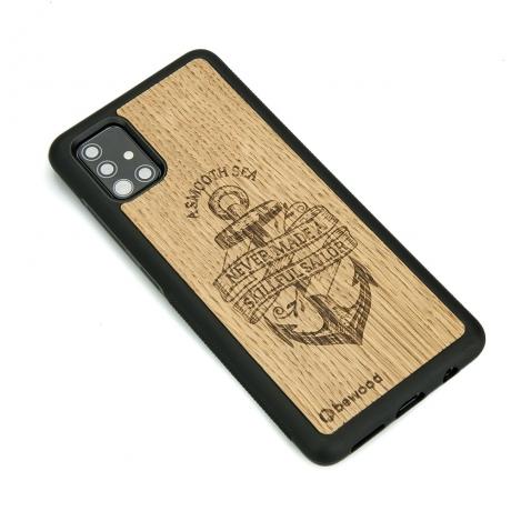 Drewniane Etui Samsung Galaxy A51 KOTWICA DĄB
