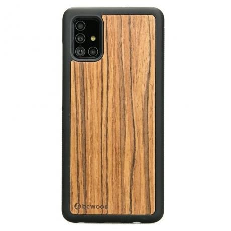 Drewniane Etui Samsung Galaxy A51 OLIWKA