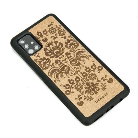 Drewniane Etui Samsung Galaxy A51 POLSKI FOLK ANIEGRE