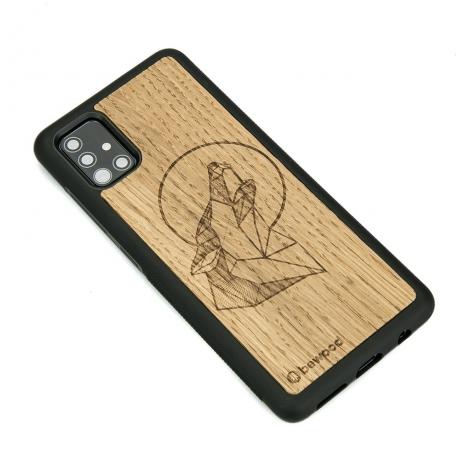 Drewniane Etui Samsung Galaxy A51 WILK DĄB