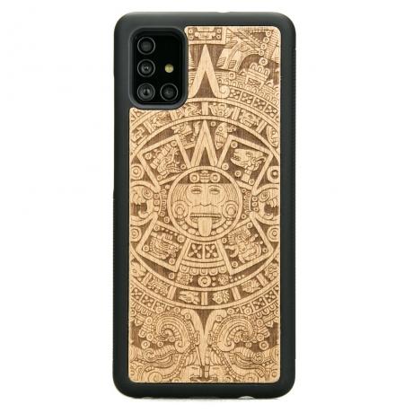 Drewniane Etui Samsung Galaxy A71 KALENDARZ AZTECKI ANIEGRE