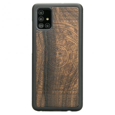 Drewniane Etui Samsung Galaxy A71 KALENDARZ AZTECKI ZIRICOTTE