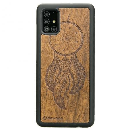 Drewniane Etui Samsung Galaxy A71 ŁAPACZ SNÓW IMBUIA