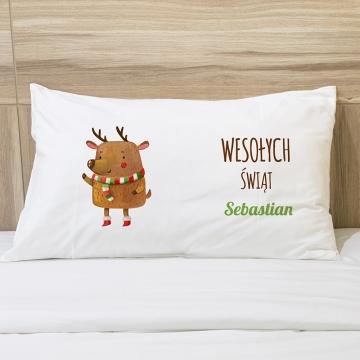 Poduszka świąteczna z reniferem
