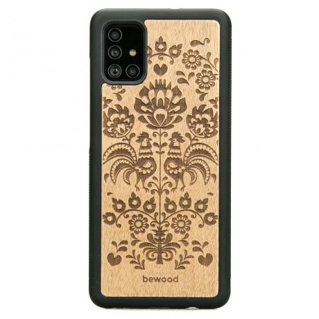 Drewniane Etui Samsung Galaxy A71 POLSKI FOLK ANIEGRE