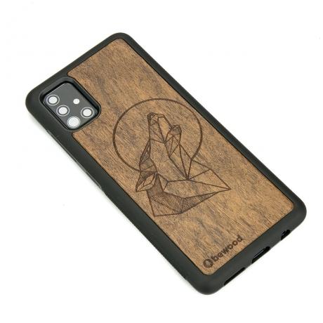Drewniane Etui Samsung Galaxy A71 WILK IMBUIA
