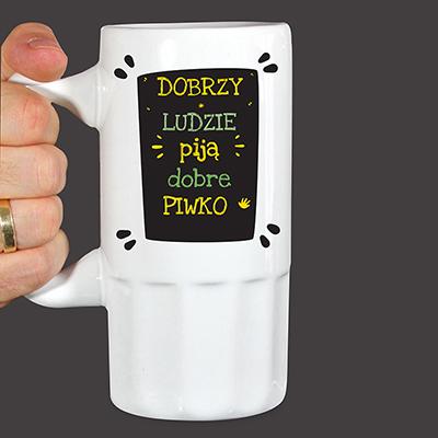 Kufel dla piwosza z nadrukiem (personalizowany)