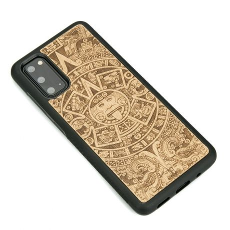 Drewniane Etui Samsung Galaxy S20 KALENDARZ AZTECKI ANIEGRE