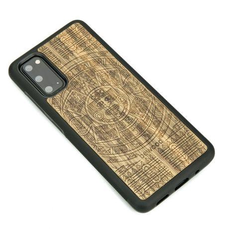 Drewniane Etui Samsung Galaxy S20 KALENDARZ AZTECKI LIMBA