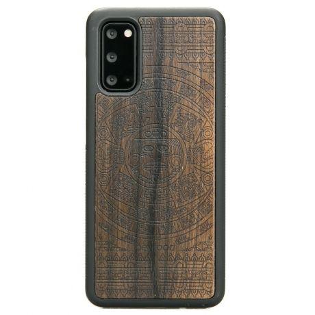 Drewniane Etui Samsung Galaxy S20 KALENDARZ AZTECKI ZIRICOTTE