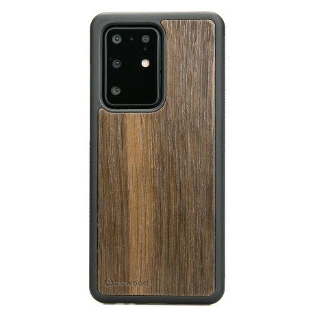 Drewniane Etui Samsung Galaxy S20 Ultra DĄB WĘDZONY