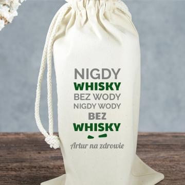 Worek na alkohol ze śmiesznym napisem