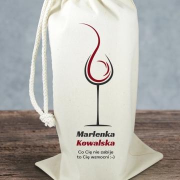 Opakowanie ozdobne na wino (z imieniem)