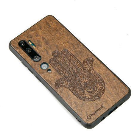 Drewniane Etui Xiaomi Mi Note 10 HAMSA IMBUIA