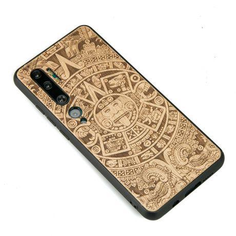 Drewniane Etui Xiaomi Mi Note 10 KALENDARZ AZTECKI ANIEGRE
