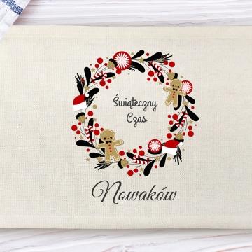 Świąteczna podkładka pod talerz (personalizowana)