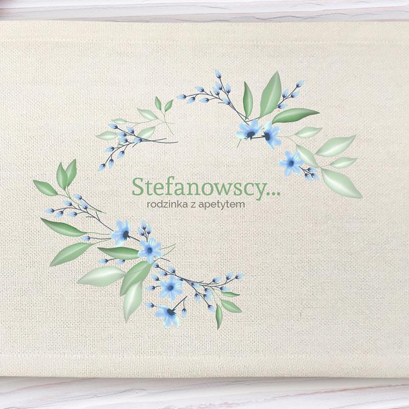 Podkładka pod talerz w kwiaty (personalizowana)