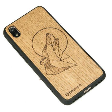Drewniane Etui Xiaomi Redmi 7A WILK DĄB