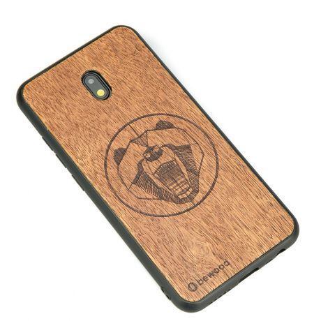 Drewniane Etui Xiaomi Redmi 8A NIEDŹWIEDŹ MERBAU