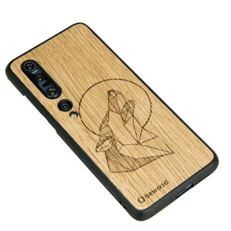 Drewniane Etui Xiaomi Mi 10 WILK DĄB