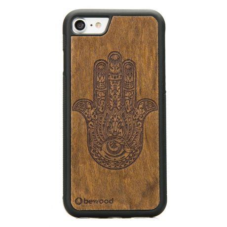 Drewniane Etui iPhone SE 2020 HAMSA IMBUIA