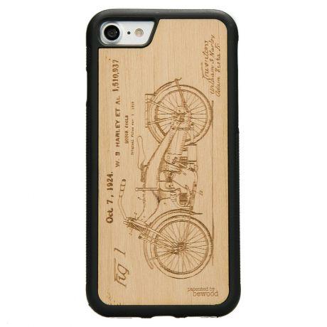 Drewniane Etui iPhone SE 2020 HARLEY PATENT ANIEGRE
