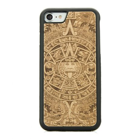 Drewniane Etui iPhone SE 2020 KALENDARZ AZTECKI ANIEGRE