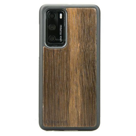 Drewniane Etui Huawei P40 DĄB WĘDZONY