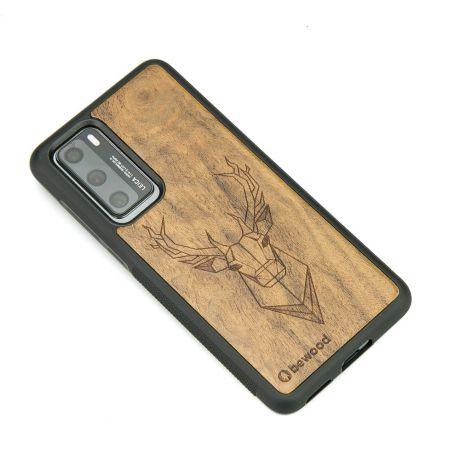 Drewniane Etui Huawei P40 JELEŃ IMBUIA